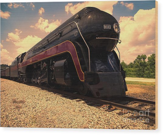 Engine #611 In Ole Town Petersburg Virginia Wood Print