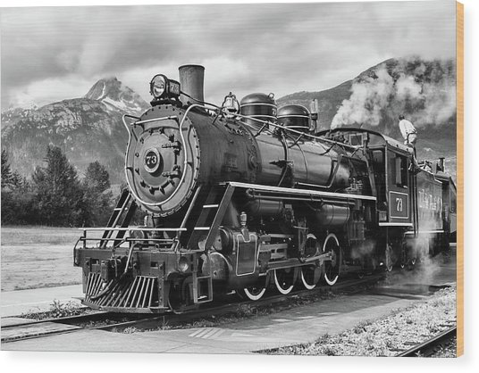 Engine 73 Wood Print