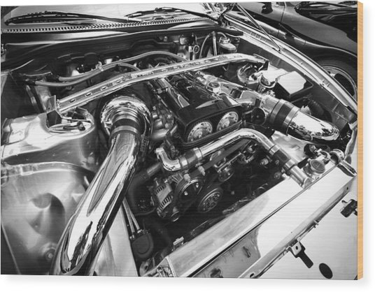 Engine Bay Wood Print