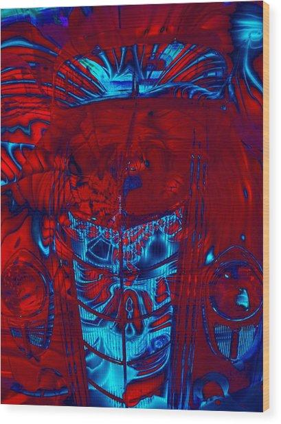 Engine Roar Wood Print by Devalyn Marshall