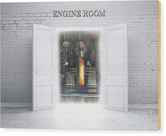 Engine Room Wood Print