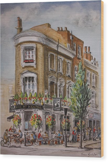 England London The Duke Of Kendal Wood Print by Yvonne Ayoub
