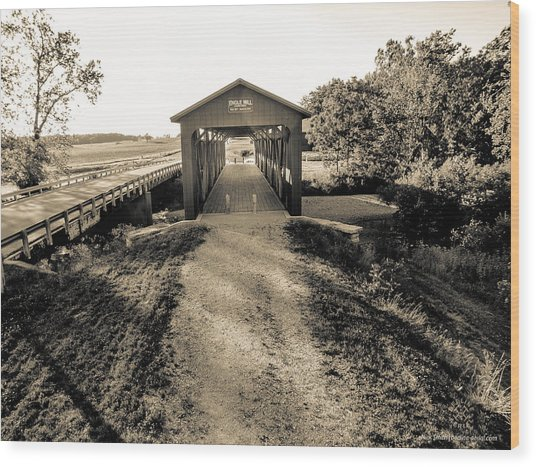 Engle Mill Covered Bridge Wood Print