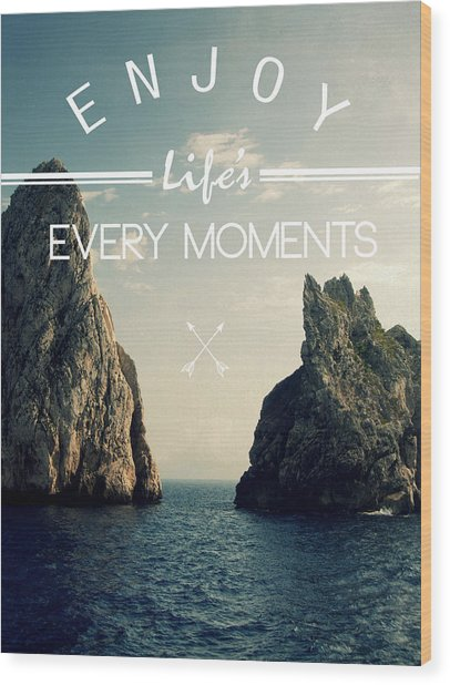 Enjoy Life Every Momens Wood Print