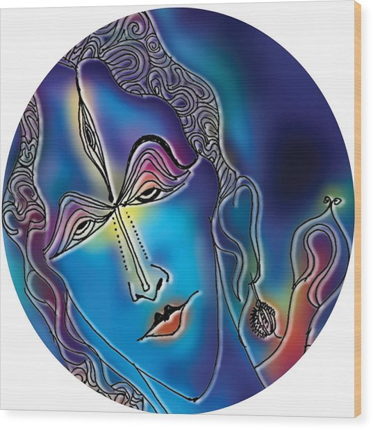 Enlightening Shiva Wood Print