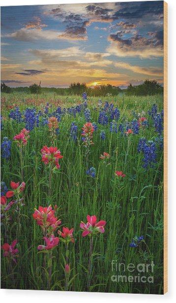 Ennis Twilight Wood Print