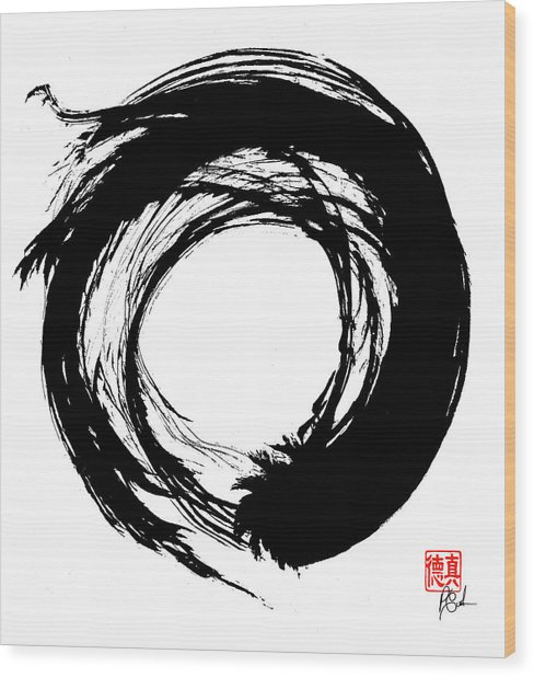 Enso / Zen Circle 15 Wood Print