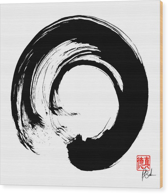 Enso / Zen Circle 16 Wood Print