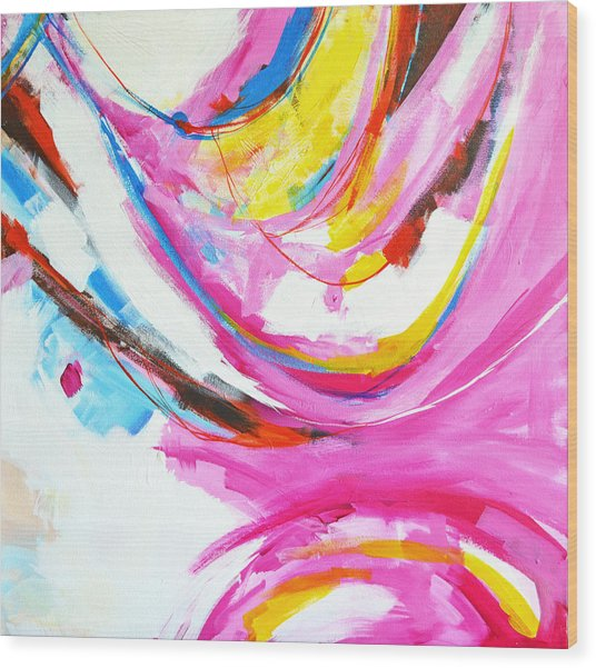 Entangled No. 8 - Right Side - Abstract Painting Wood Print