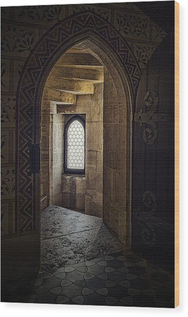 Enter For Enlightenment Wood Print