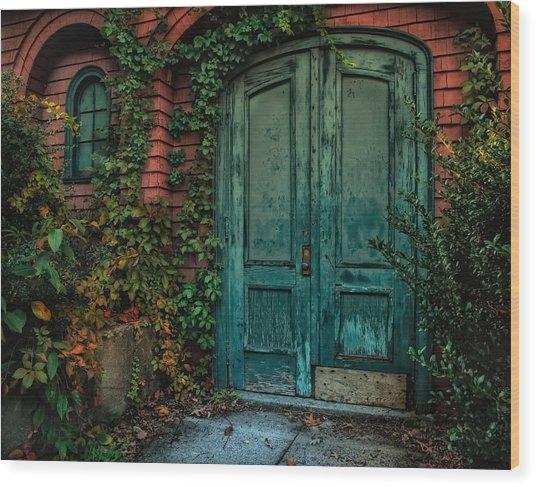 Enter October Wood Print