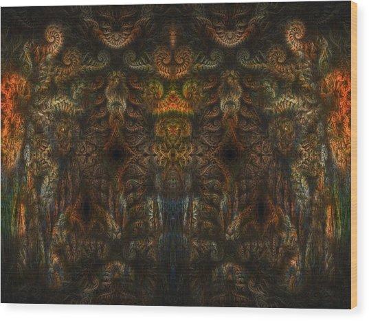 Enter Wood Print by Talasan Nicholson