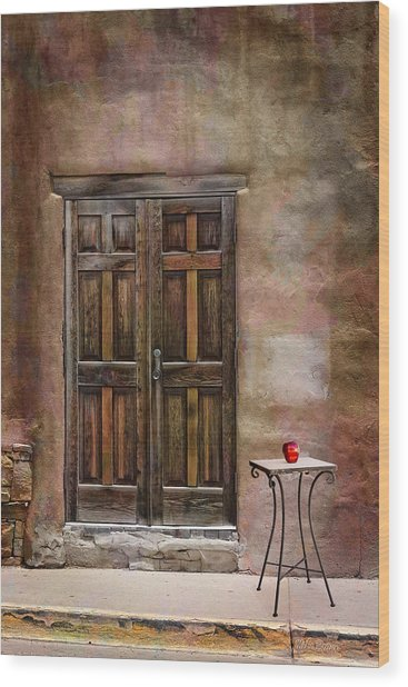 Entering Santa Fe Wood Print