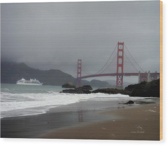 Entering The Golden Gate Wood Print