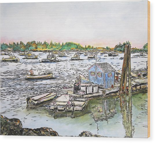 Entering Vinal Haven, Maine Wood Print