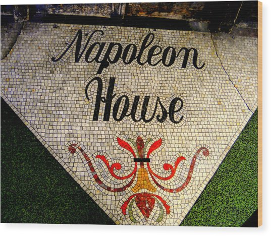 Entrance Mosaic Napoleon House Wood Print by Ted Hebbler