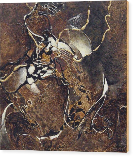 Entwined Wood Print
