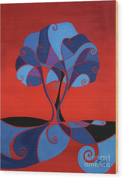 Enveloped In Red Wood Print