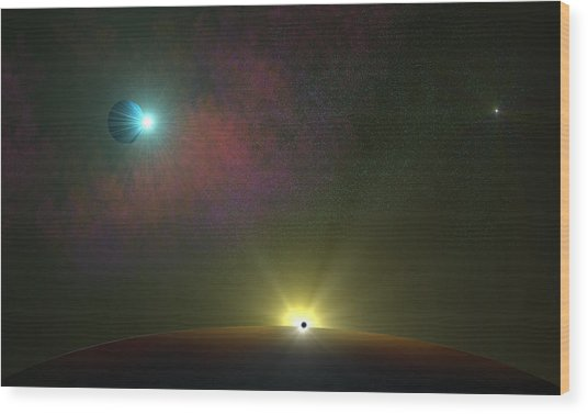 Epic Journey Wood Print by Ricky Haug
