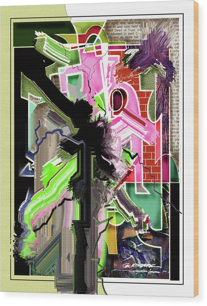 Epicenter Three-eleven Wood Print