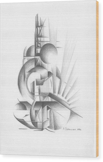 Equilibre Wood Print by Muriel Dolemieux
