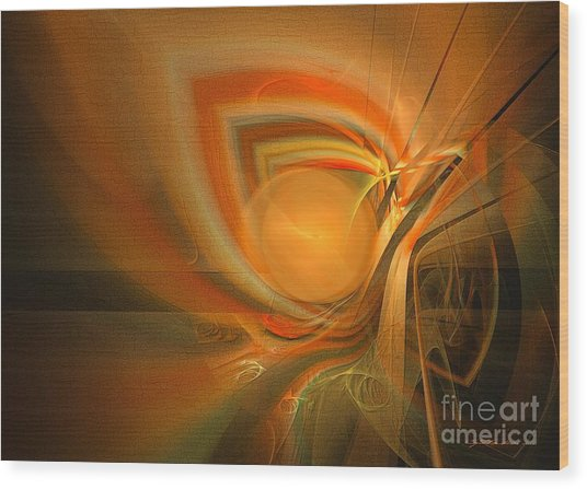 Wood Print featuring the digital art Equilibrium - Abstract Art by Sipo Liimatainen