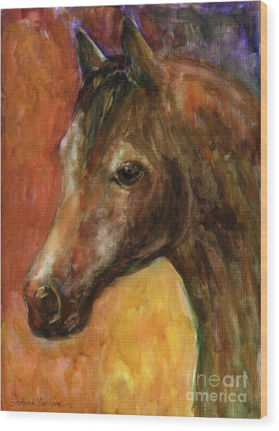 Equine Horse Painting  Wood Print