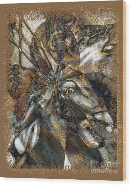 Equus Wood Print by Chuck Brittenham