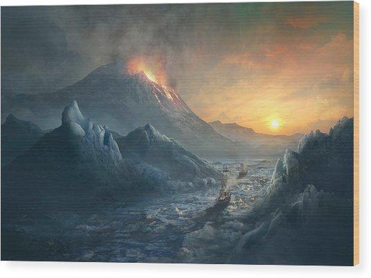 Erebus Mount Wood Print