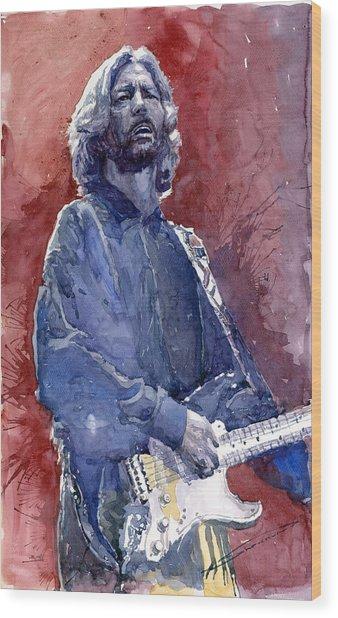 Eric Clapton 04 Wood Print