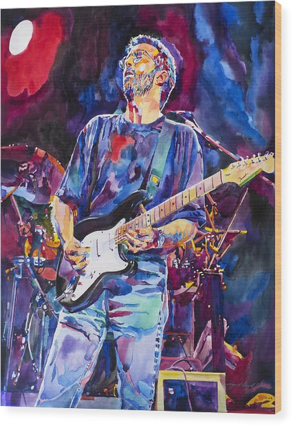 Eric Clapton And Blackie Wood Print