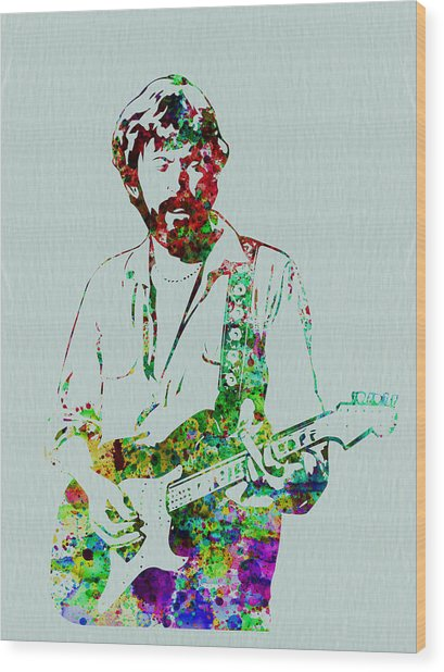 Eric Clapton Wood Print by Naxart Studio