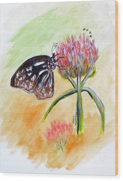 Erika's Butterfly Two Wood Print