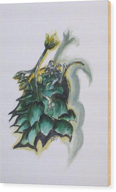 Erika's Spring Plant Wood Print