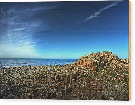Eruption Wood Print by Kim Shatwell-Irishphotographer