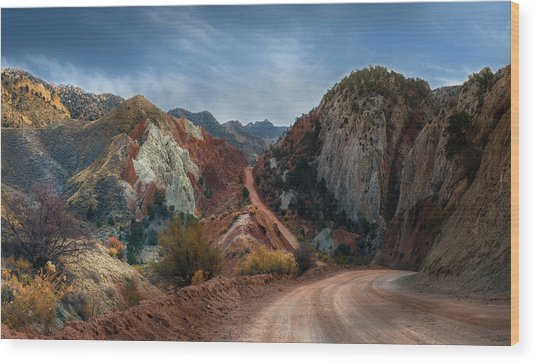 Grand Staircase Escalante Road Wood Print