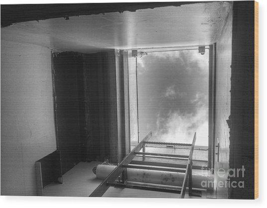 Escape Hatch Wood Print