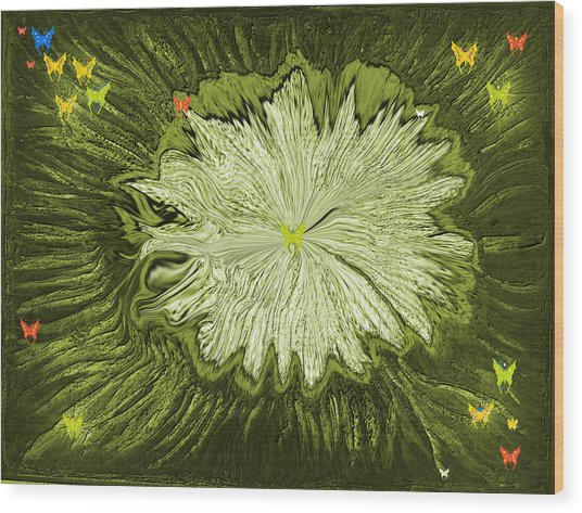 Escape Of The Butterflies Wood Print by Sherri's - Of Palm Springs