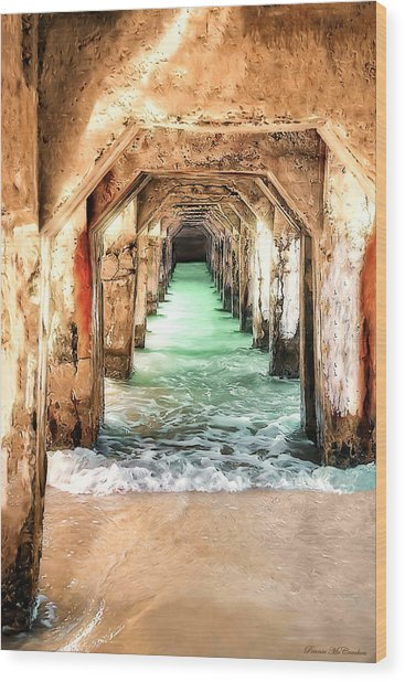 Escape To Atlantis Wood Print