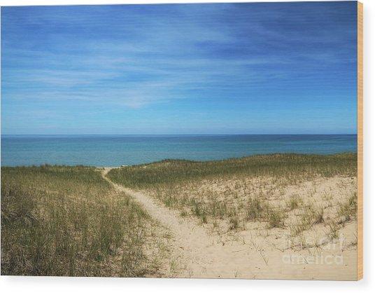 Esch Beach Wood Print
