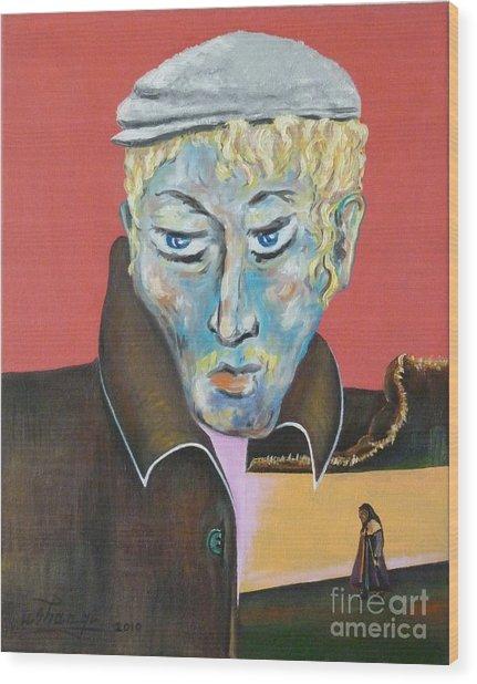 Esenin Wood Print by Ushangi Kumelashvili