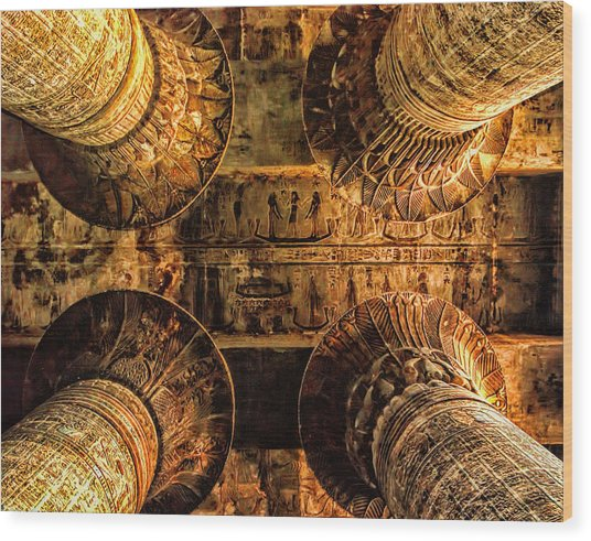 Esna Capitals Wood Print
