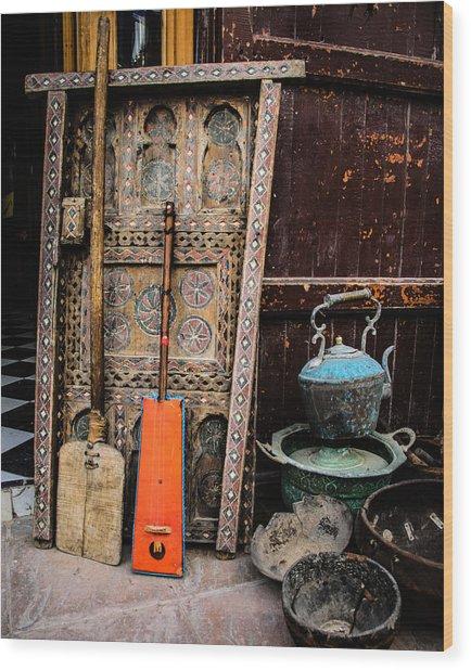 Essauoira Treasures Wood Print