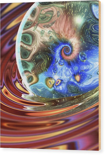 Esscence Of Life Wood Print by Sandy Ostroff