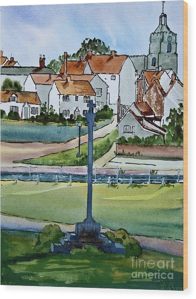 Essex Village In England Wood Print by Dianne Green