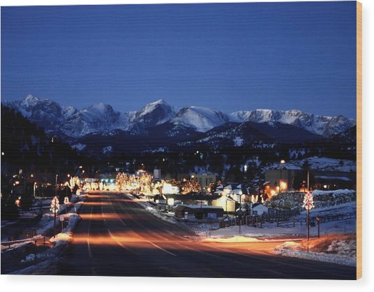 Estes At Dawn Wood Print by Perspective Imagery