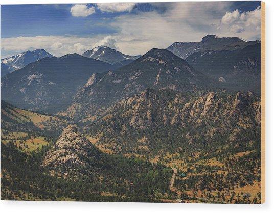 Estes Park Aerial Wood Print