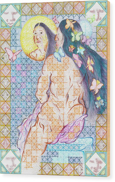 Estrella De La Manana Morning Star Wood Print