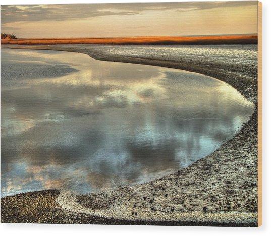 Estuary Wood Print