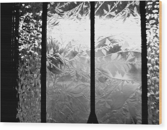 Etched In Glass Wood Print by Laura DAddona
